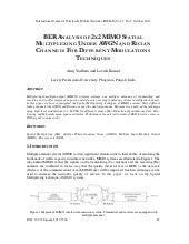 Ber analysis of 2x2 mimo spatial mu...