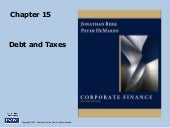 Berk Chapter 15: Debt And Taxes
