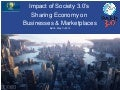 Impact of Society 3.0's  Sharing Economy on  Businesses & Marketplaces