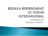 Berpendapat di forum international