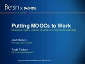 Putting MOOCs to Work:  How Online ...