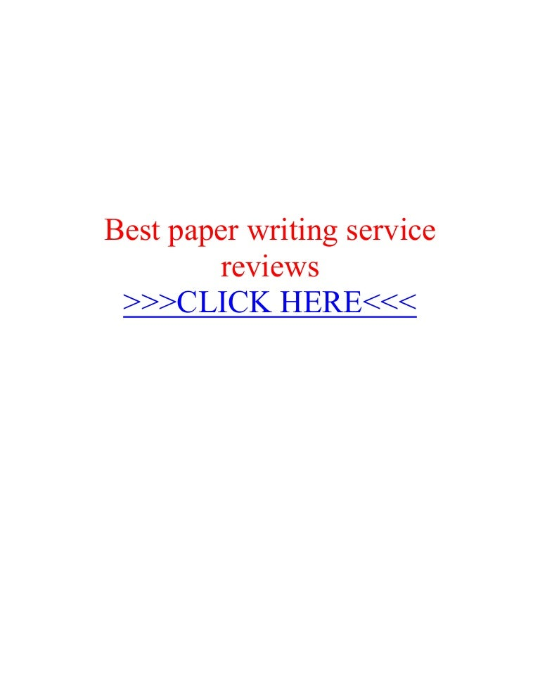 Best paper writing service reviews
