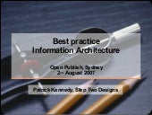 Best Practice Information Architecture