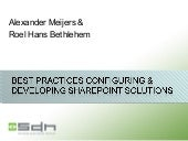Best Practices Configuring And Deve...