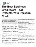 The Best Business Credit Card That Protects Your Personal Credit