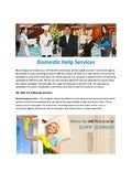 Devoted Domestic Help Services in India