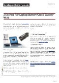 bestlaptopbattery.co.uk-3 Secrets For Laptop Battery Care | Battery Wiki