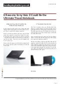 bestlaptopbattery.co.uk-6 Reasons Sony Vaio Z Could Be the Ultimate Travel Notebook
