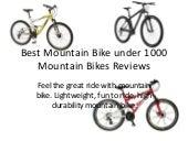Best Mountain Bike under 1000 Mount...