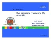 Best Operational Practices - IMS UG May 2013 Omaha