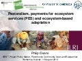 Pastoralism, payments for ecosystem services (PES) and ecosystem-based adaptation