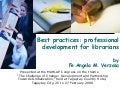 Best Practices   Professional Development For Librarians