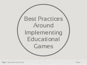 Best Practices Around Implementing ...