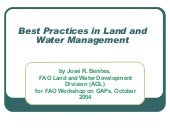 Best Practices In Land And Water Ma...