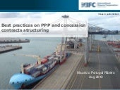 Best practices on PPPs contracts