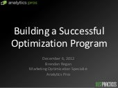BEST Practices - Testing & Optimization | Bredan Rendan