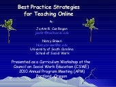 Best practice strategies for online...