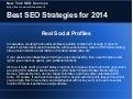 Best SEO Strategies for 2014