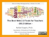 The Best Web 2.0 Tools for Teachers - 2012 Edition