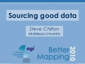 Better Mapping II - Sourcing good data