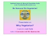 Why Be Vegetarian?