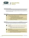Informal Funding Checklist for Credit Unions | BFB 2011