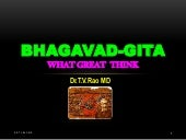 Bhagavad-Gita, What great think