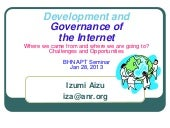 Internet governance and Development...