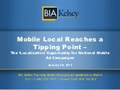 Bia/Kelsey Webinar: Mobile-Local-Reaches-Tipping-Point