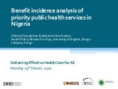 Benefit incidence analysis of prior...