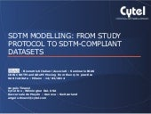 SDTM modelling: from study protocol to SDTM-compliant datasets