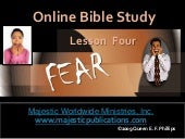 Bible Study  Onlines Lesson 4 Fear