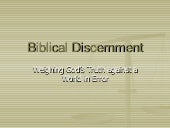 Biblical Discernment04