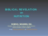 Biblical Revelation On Nutrition
