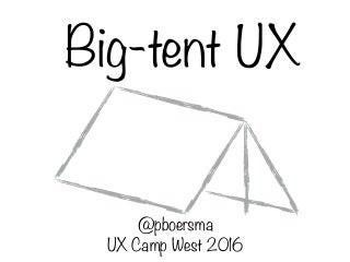 UX Camp West 2016