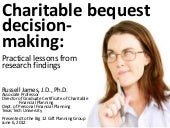 Charitable Bequest Decision-Making