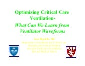 Optimizing Critical Care Ventilation: What can we learn from Ventilator Waveforms?