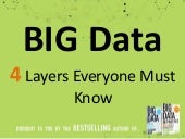 Big Data: The 4 Layers Everyone Must Know