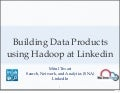 Building Data Driven Products at Linkedin