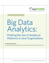 Big data analytics, research report