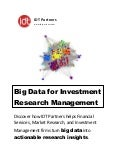 Big Data For Investment Research Management