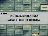 Big Data Marketing - What You Need To Know