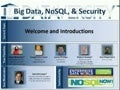 Panel: Big Data, NoSQL, & Security