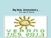 Big data, universidad y....