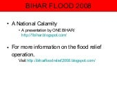Bihar Flood/ Kosi Flood a national ...