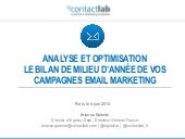 Analyse et optimisation - Le bilan...