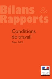 Bilan rapport conditions de travail...