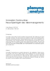 Innovation Communities - Neue Spiel...