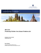 Bill c 54 - protecting children fro...