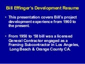 Bills San Diego Projects